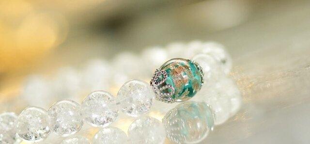 ビーズブレスレット / Snow tiaraの画像1枚目