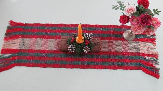 手織り テーブルセンターの画像1枚目