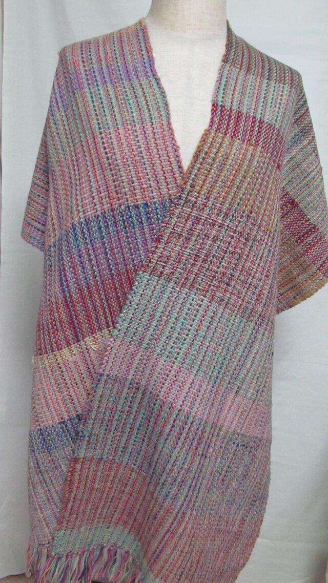 手織りのショールの画像1枚目