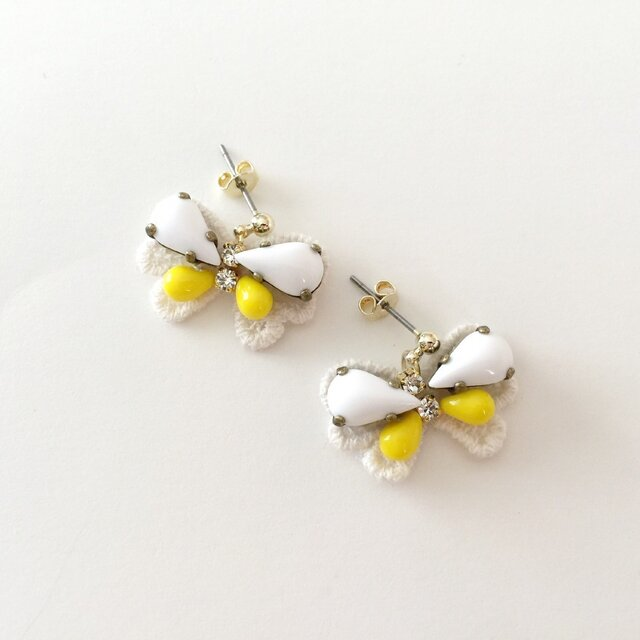 "bijoux butterfly ""white&yellow""の画像1枚目"