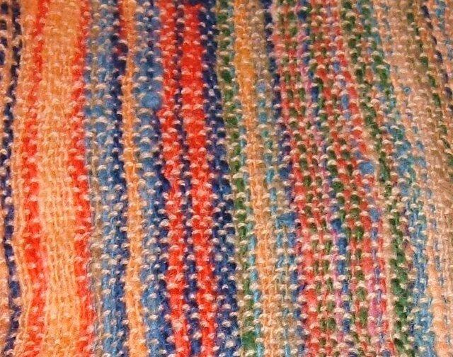 ホームスパン手織りマフラーの画像1枚目
