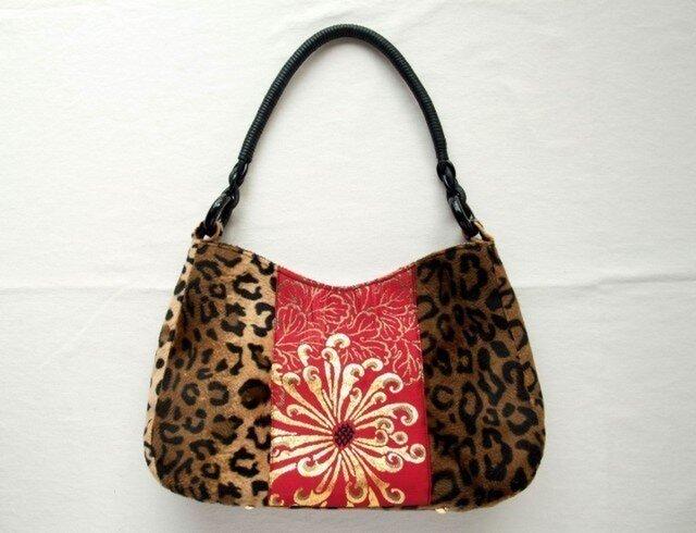 Leopard bag    菊とレオパードのバッグの画像1枚目