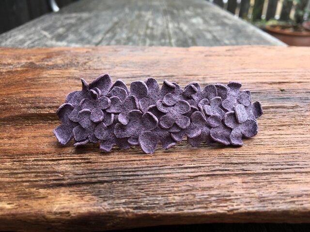 革花のバレッタ 7cm 薄紫の画像1枚目