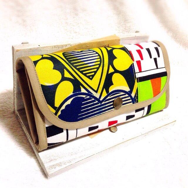 183アフリカパーニュ長財布の画像1枚目