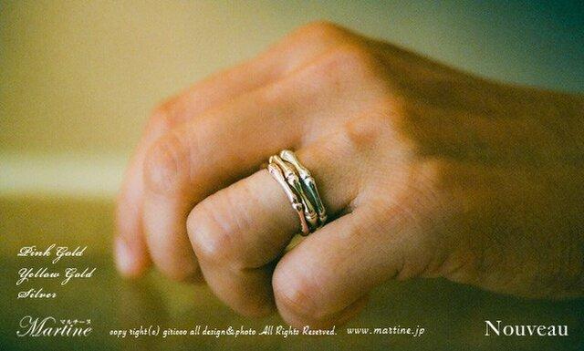 美しくしなやか。Bamboo k18gold ring。の画像1枚目
