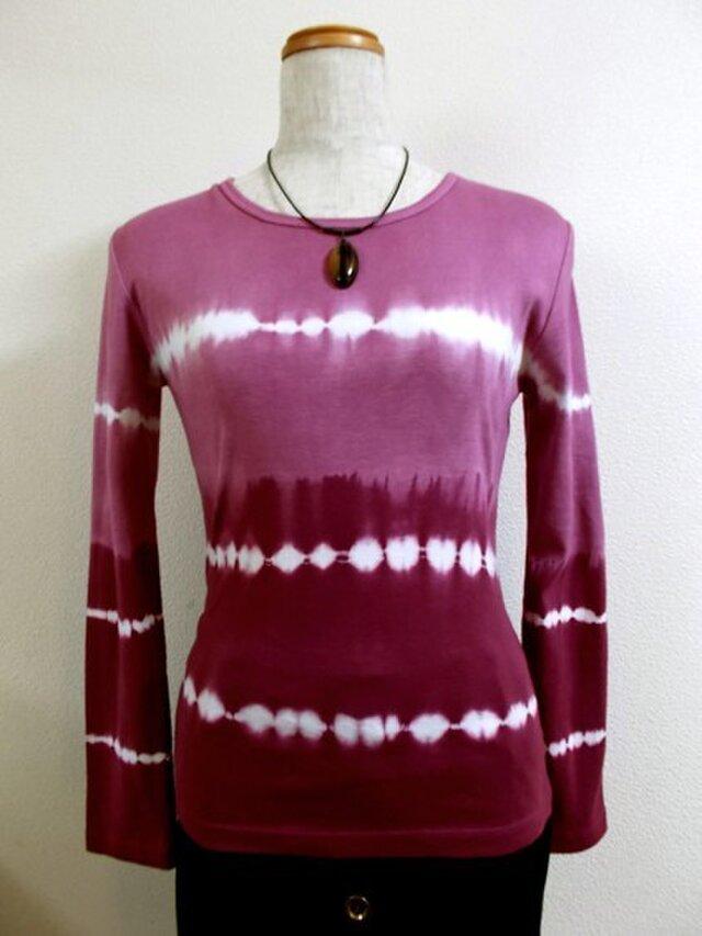 長袖Tシャツ(ボーダー絞り染)の画像1枚目