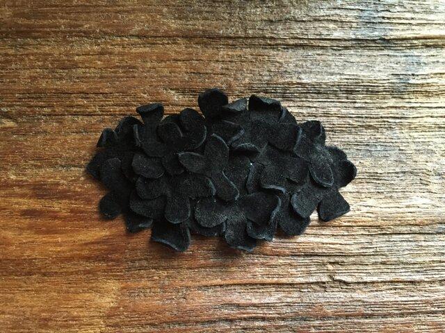 革花のスリーピン 楕円 ブラックの画像1枚目
