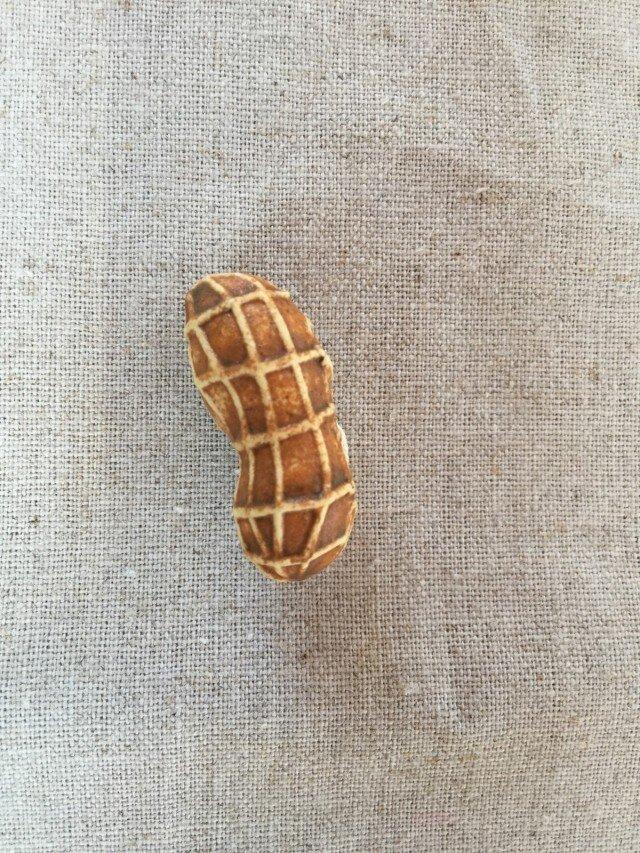 ピーナッツ型ブローチ の画像1枚目