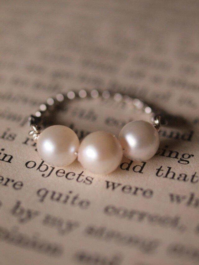 真珠のリングの画像1枚目