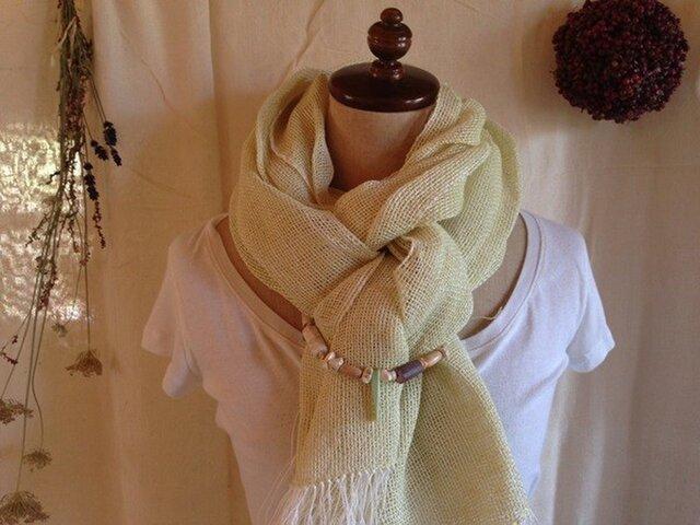 手織り ヘンプとリトアニアリネン レモンの画像1枚目