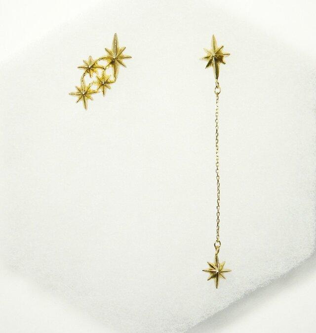 夜空の星 流れ星 ピアスの画像1枚目