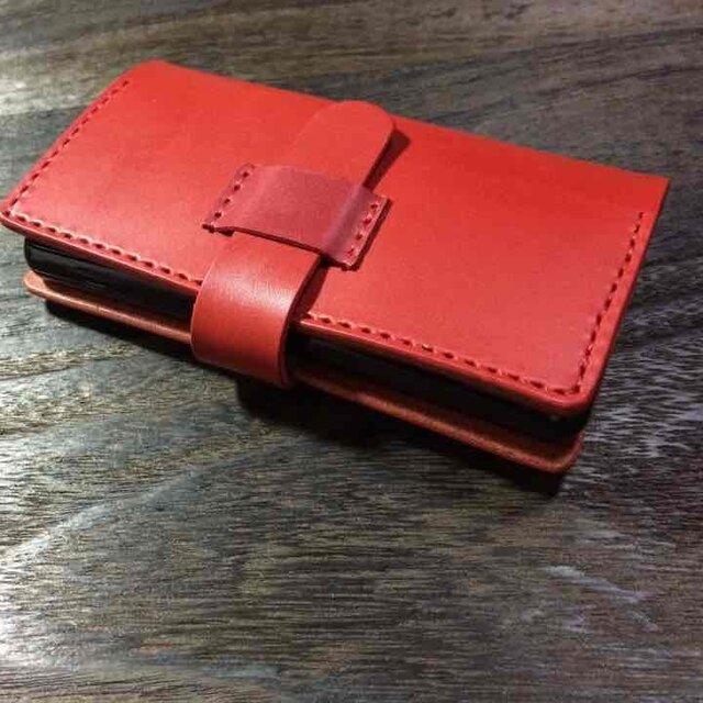 Xperia Z3Compact SO-02G★レザーケース☆赤の画像1枚目