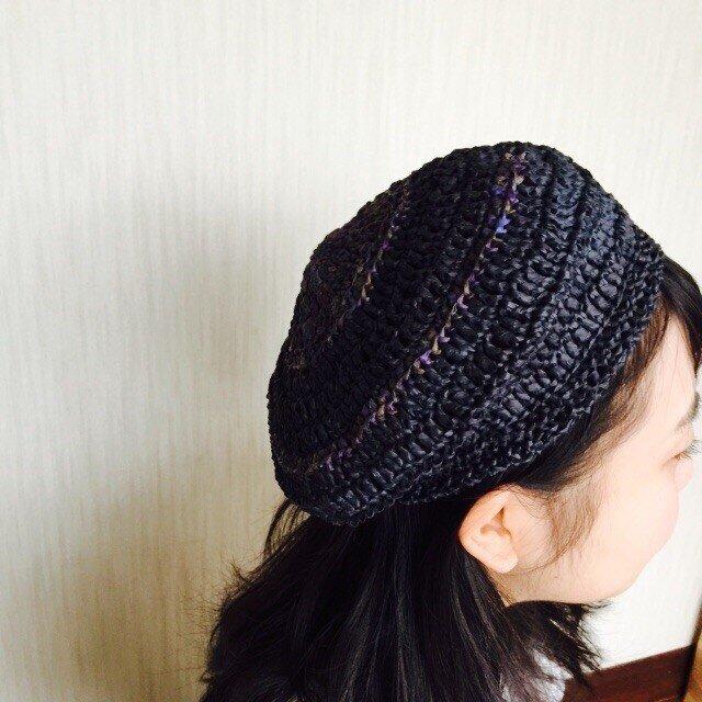 紙の糸の涼しい帽子の画像1枚目