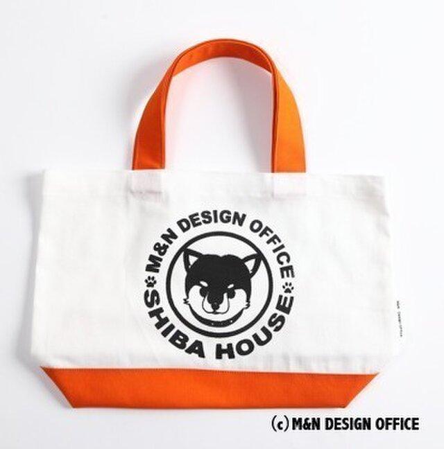 柴犬イラスト帆布バッグ/SHIBA HOUSE(オレンジ)の画像1枚目