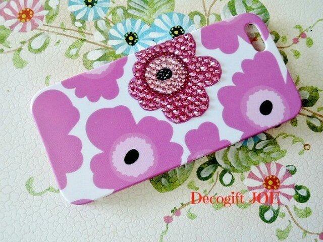 iPhone5・5S対応ケース お花ピンク2の画像1枚目