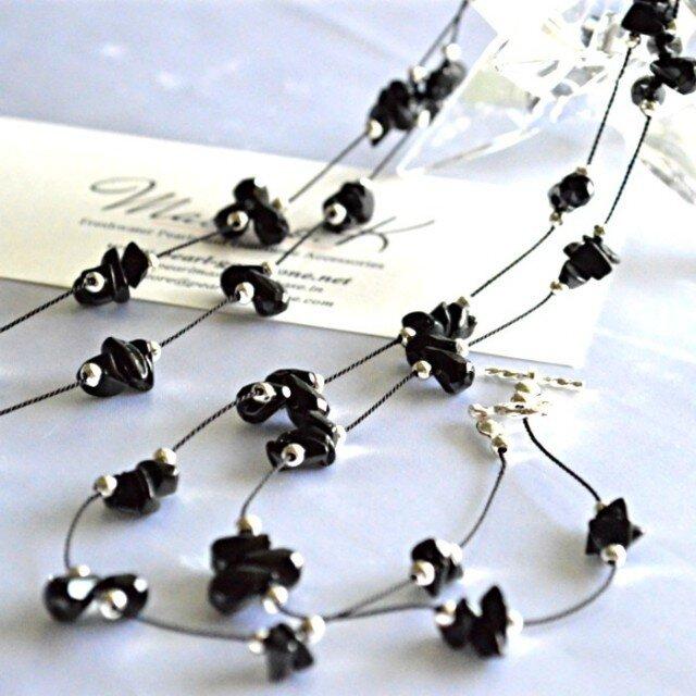 Onyx Silk-code Long Necklaceの画像1枚目