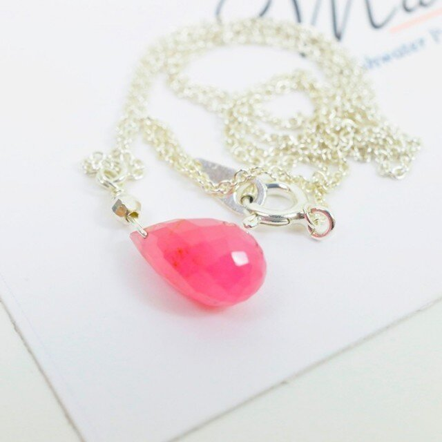 Pink Saphire Necklaceの画像1枚目