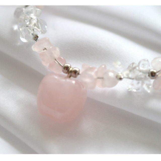 Rose Quortz Braceletの画像1枚目