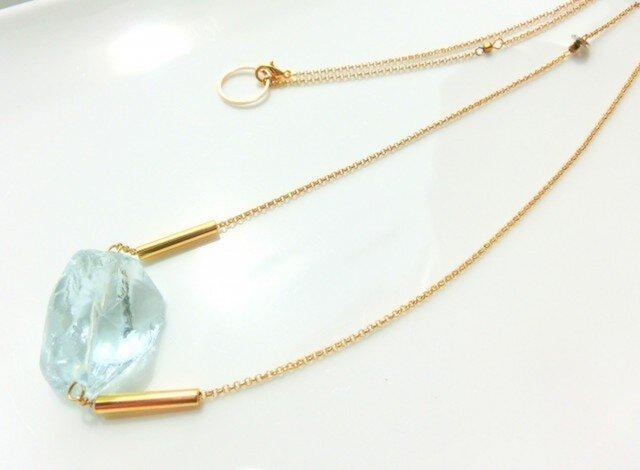 silent blue necklaceの画像1枚目