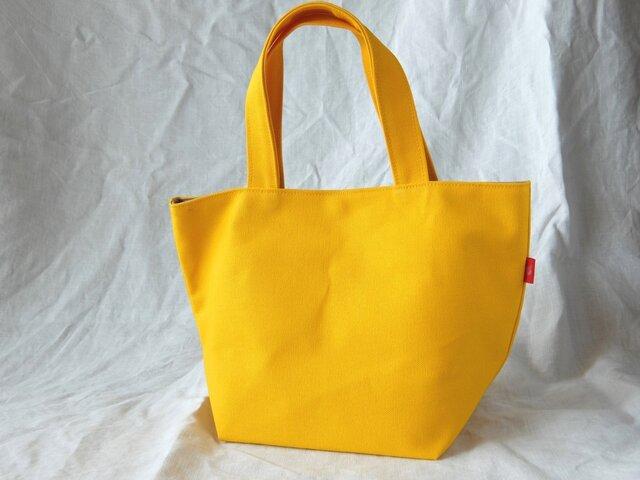 元気な黄色の帆布ミニトートの画像1枚目