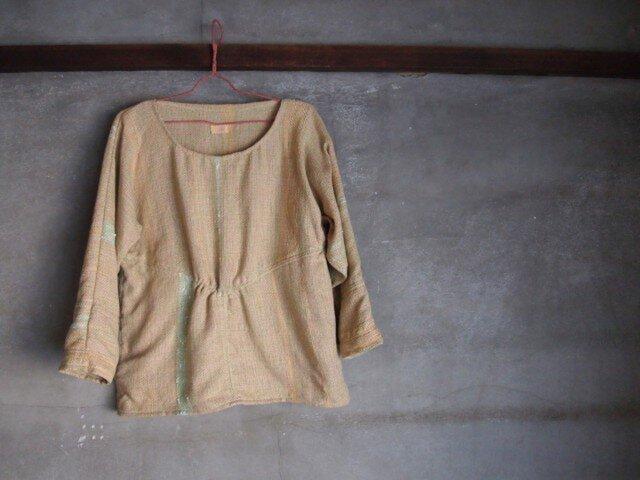 手織り/cotton sweater▽マスカットイエロー(+orの画像1枚目