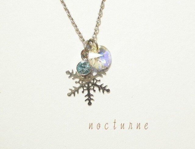 雪の結晶のネックレス~silver~の画像1枚目