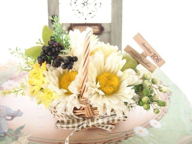 SOLD OUTナチュラルが優しい花かごアップルベリーGの画像1枚目