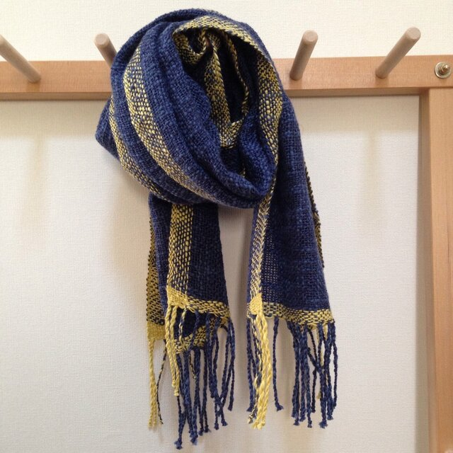 手織り ストールの画像1枚目