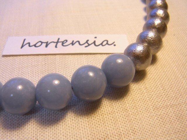 ☆再販☆ cotton pearl×エンジェライトのネックレスの画像1枚目