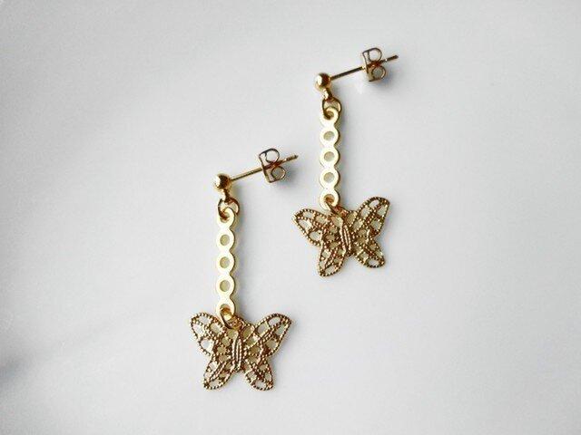 sale golden butterfly ピアスの画像1枚目