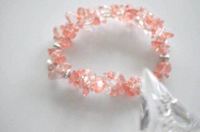 Cherry Quartz Braceletの画像1枚目