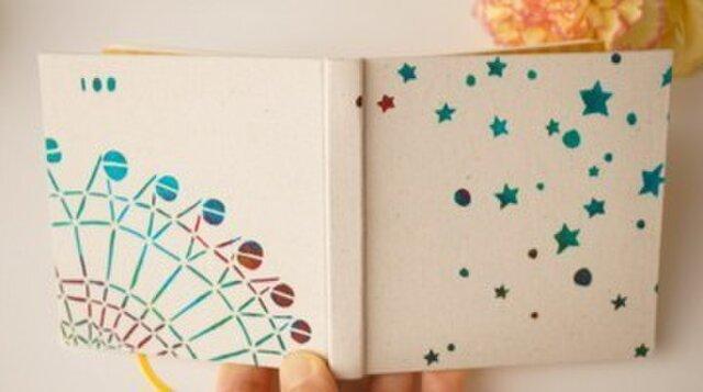 100のこと「星空観覧車」 型染め手帳の画像1枚目