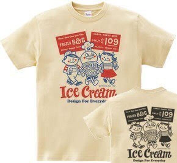 アイスクリームBoy&Girl☆ 両面 Tシャツ WS~WM•S~XL  Tシャツ【受注生産品】の画像1枚目