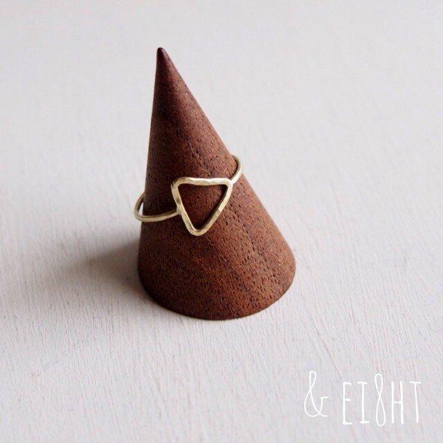 【再販】- Brass - Triangle Ringの画像1枚目