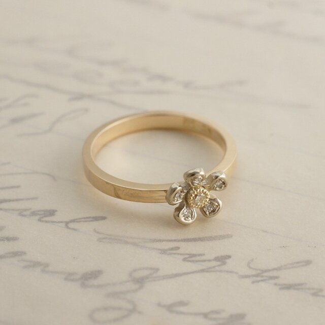 Tiny flower ring{R057K10}の画像1枚目