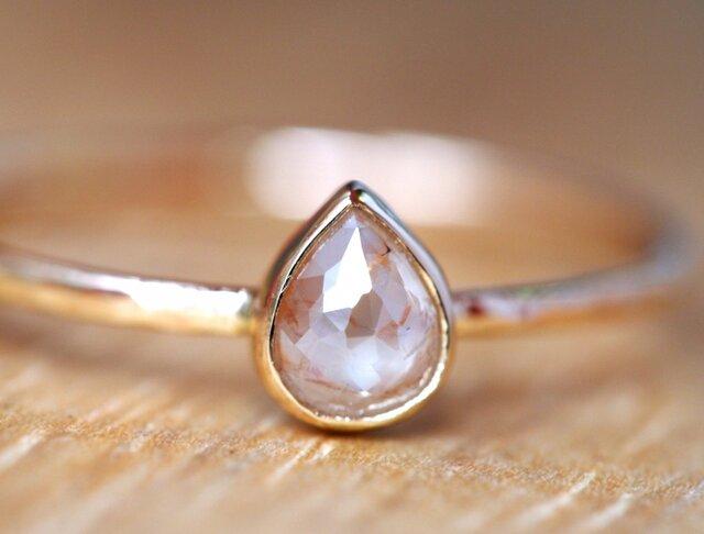Pink Pear Diamond Ringの画像1枚目