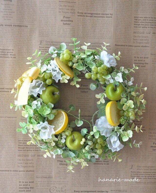 order lさま Fresh fruits wreath:a・g・lの画像1枚目