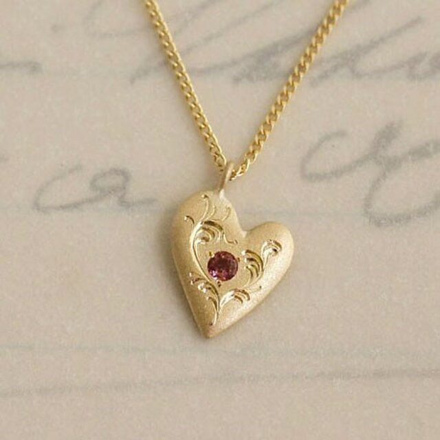 Heart pendant{PD031K10}の画像1枚目