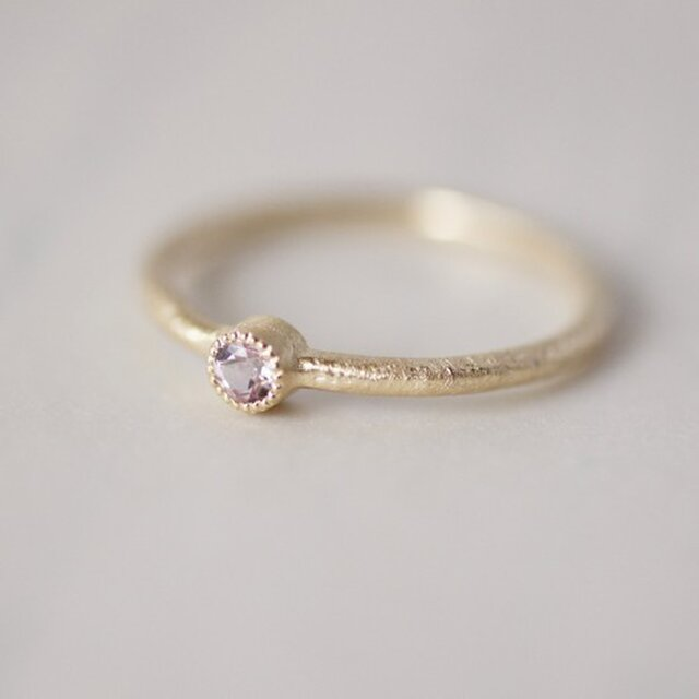 Morganite one stone ring{R050K10MN}の画像1枚目