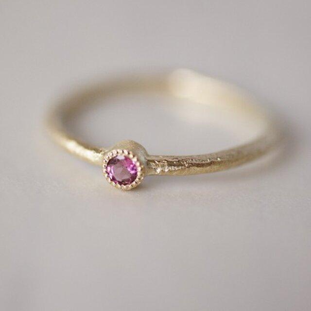 Pink tourmaline one stone ring{R050K10PT}の画像1枚目