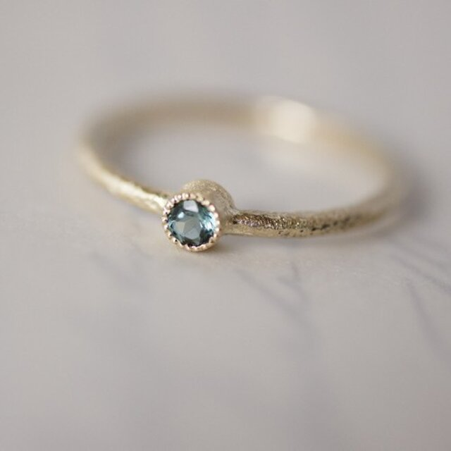 Tourmaline one stone ring {R050K10TM}の画像1枚目