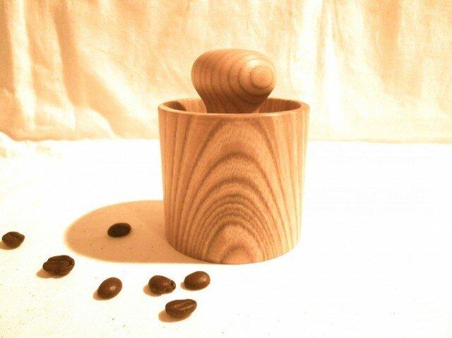 【受注制作】森のクマさんカフェからWood コーヒー豆挽きの画像1枚目
