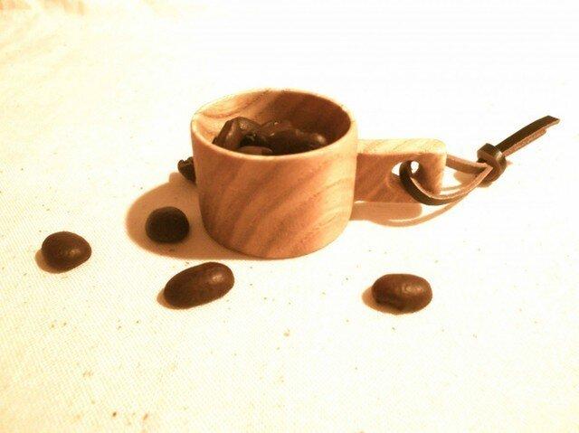 【受注制作】森のクマさんカフェからWood コーヒーメジャーの画像1枚目