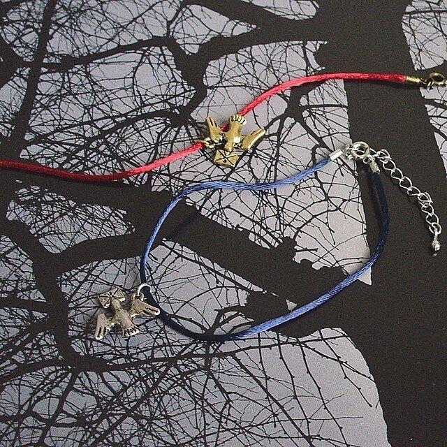 鳩チャームアンクレット(全2色)の画像1枚目