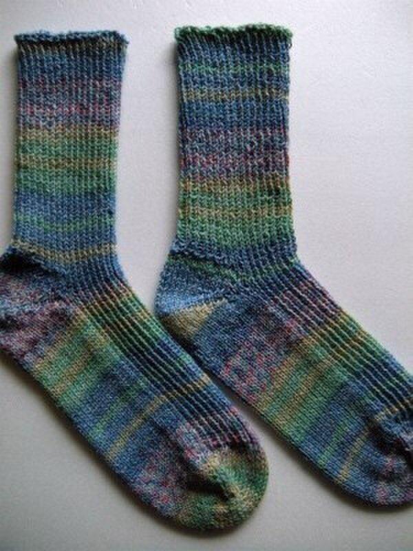 手編み靴下【REGIA コットンサマースマイル3292】の画像1枚目
