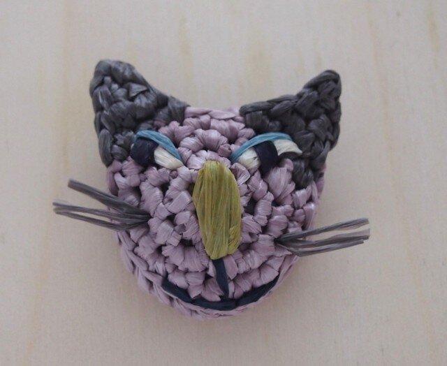gray耳猫ブローチの画像1枚目