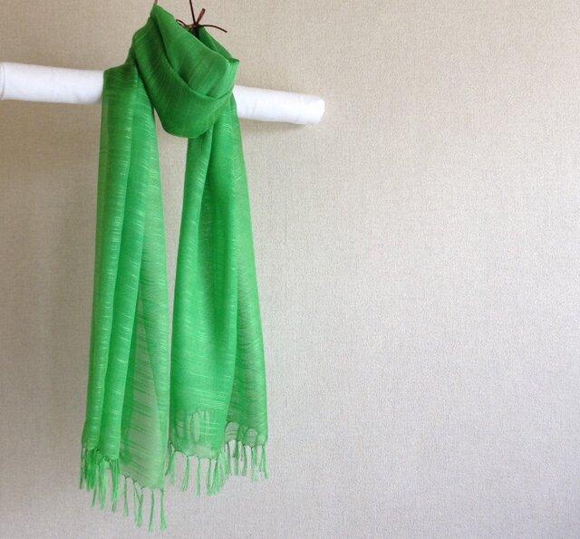 手染めシルクストール green greenの画像1枚目