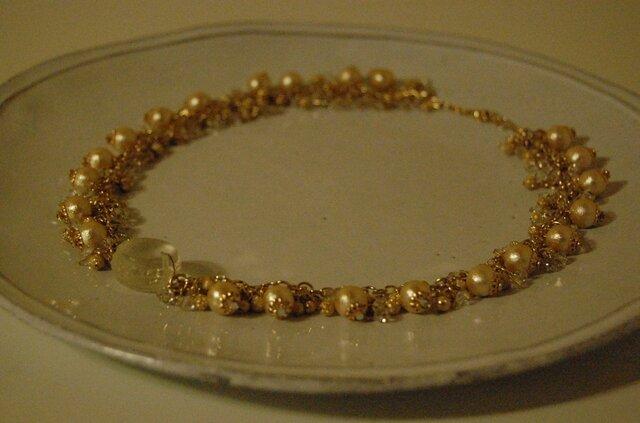 マカロンの結晶ネックレス1の画像1枚目
