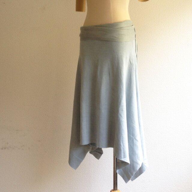 organic cotton Prana skirt 蒼色/オーガニックコットンスカートの画像1枚目