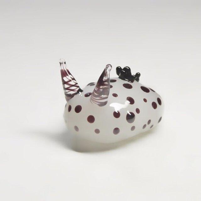 ガラスのゴマフビロウドウミウシ(ホワイト)の画像1枚目